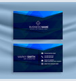 dark blue theme business card design template vector image vector image