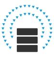 Database Sphere Shield Flat Symbol vector image vector image