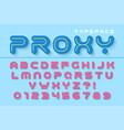 decorative futuristic font design alphabet vector image vector image