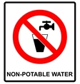 Do not drink water prohibition sign vector image vector image