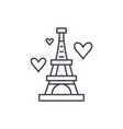 eiffel tower line icon concept eiffel tower vector image vector image