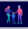 family spend time together happy parents with vector image vector image