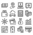 financial and investment icons set on white vector image vector image