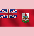 flag of bermuda - vector image