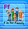 flashcard letter f is for family vector image