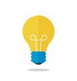 flat design light bulb isolated on white vector image