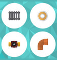 flat icon industry set of tap heater roll and vector image vector image