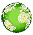 floral flower globe concept vector image vector image