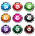 flower set 9 collection vector image vector image
