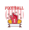 football trophy cups vector image vector image