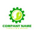 green power energy logo design element thunder vector image vector image