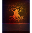 grungy background with tree vector image vector image