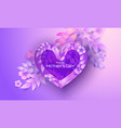 happy mother day greating card purple and red vector image vector image