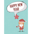 Happy new year girls santa cute Christmas vector image