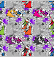hippie seamless pattern vector image vector image