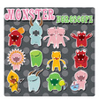 Horoscope signs with cute colorful monsters vector image vector image