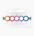 infographic 3d circle label template vector image vector image