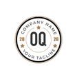 initial letter oq elegance logo design template vector image vector image