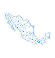 isolated map of mexico vector image vector image