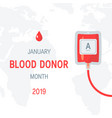 january national blood donor month concept vector image
