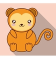 Kawaii monkey icon Cute animal graphic vector image vector image