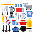 kitchen equipment for cooking vector image vector image