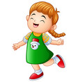 little girl laughing and smiling vector image vector image