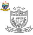 logo with eagle head vector image