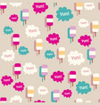 lovely ice - cream cones seamless background vector image
