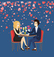 man holding hand of woman and saying toast vector image vector image