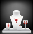 Mannequins for jewelries vector image