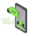 Mobile instant messenger chat vector image