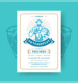 oktoberfest party flyer vintage typography vector image