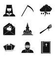 omen icons set simple style vector image vector image