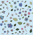 pattern with multicolored wildflowers vector image