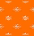 pirate cannon pattern orange vector image vector image