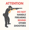 practical shooting safety rules vector image vector image