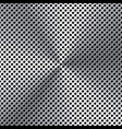 realistic perforated brushed metal texture vector image vector image