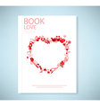 Report red icon heart valentines day card with sig vector image
