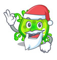 santa virus cells bacteria microbe isolated mascot vector image vector image
