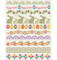Set of Lace Paper with flower an easter eggs vector image
