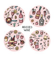 set of mulled wine elements and objects vector image vector image