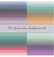 Set of seamless triangle pattern in pastel colors vector image vector image