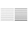 Set seamless borders zigzag graphic design