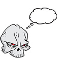 skull with thought bubble vector image vector image