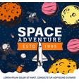 space galaxy adventure spaceship rocket planets vector image vector image