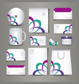 stationary templates design vector image