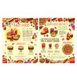 street food fastfood snacks sketch menu vector image vector image