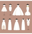 Styles of wedding dresses vector image vector image