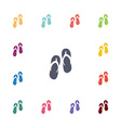 thongs flat icons set vector image